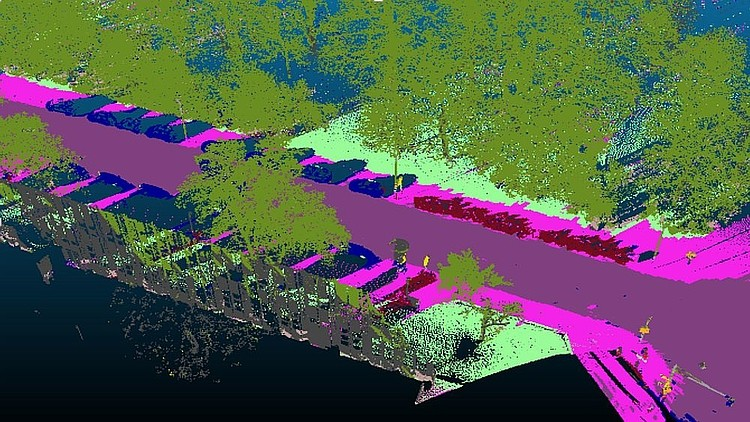 Semantic Segmentation of Point Clouds using Semi Supervised
